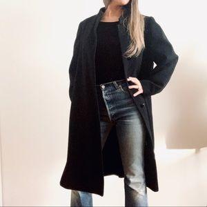 Vintage Longline Wool Overcoat Trench Coat